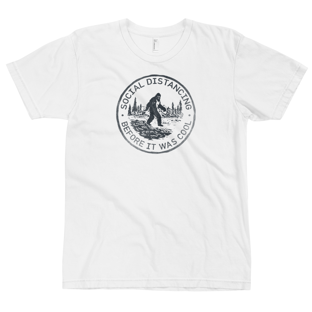 Social Distancing Before It Was Cool (Bigfoot) T-Shirt