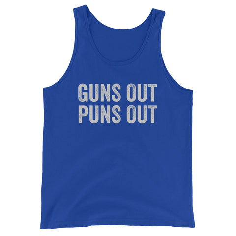 Guns Out Puns Out Tank Top