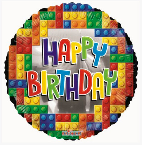 Happy Birthday - Multicolored Lego Blocks