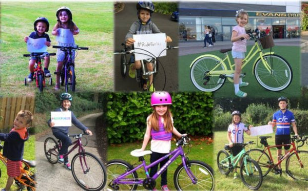 Cyclists Fighting Cancer CFC Kids Bikes Charity Donation