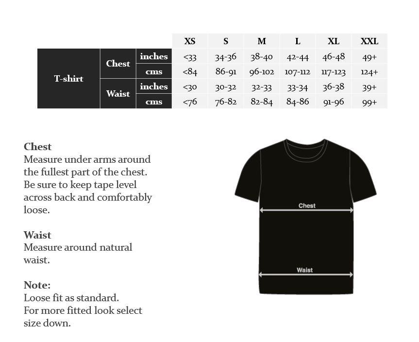 Wearwell Cycle Company | Size Guide - T-shirts