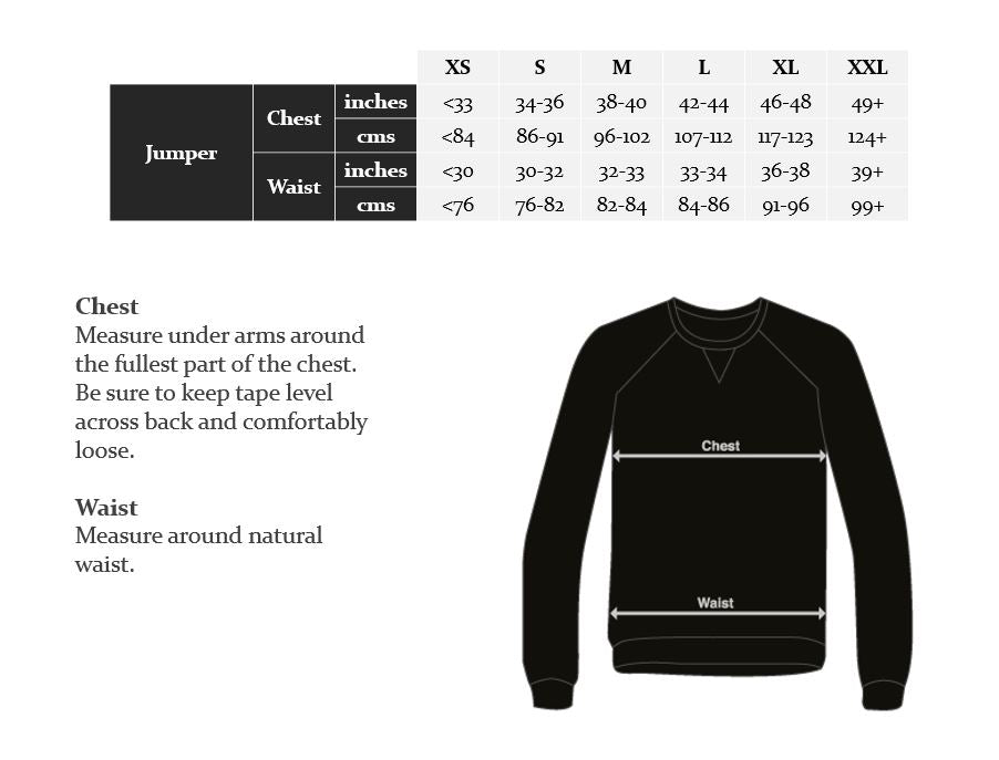 Wearwell Size Guide | Jumper