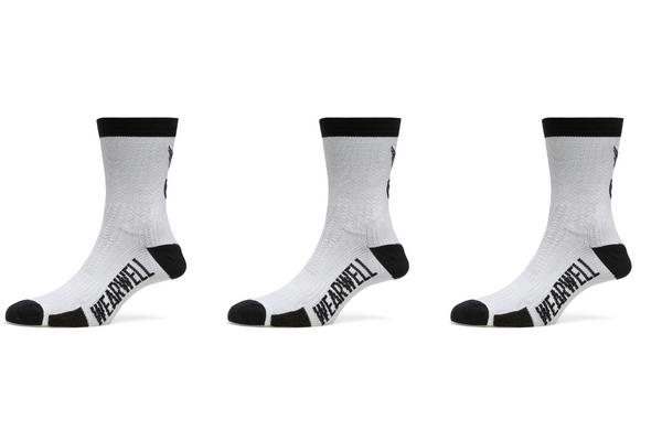 White Cycling Sock Bundle x 3 - Revival Collection