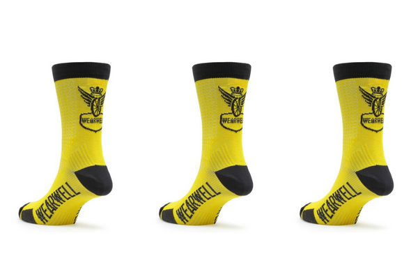 Yellow Cycling Sock Bundle x 3 - Revival Collection