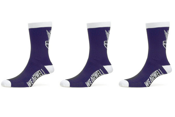 Blue Cycling Sock Bundle x 3 - Revival Collection
