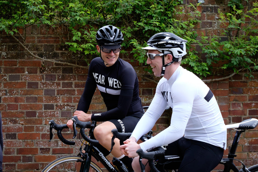 Arm Warmers - Revival Collection | White - Wearwell Cycle Company