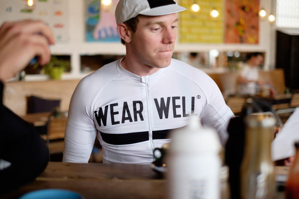 White Short Sleeve Cycling Jersey - Revival Collection - Short Sleeve Jersey - Wearwell Cycle Company