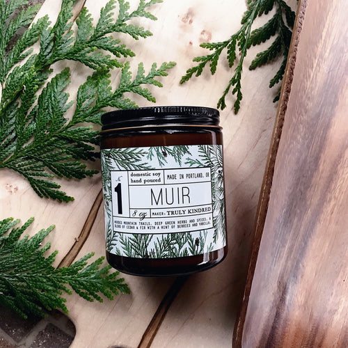 #1 Muir - 8oz Soy Candle