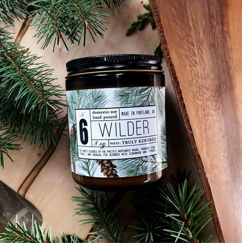 #6 Wilder - 8oz Soy Candle