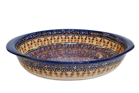 "11.5"" Oval Baking Dish in Butterfly Fields pattern."