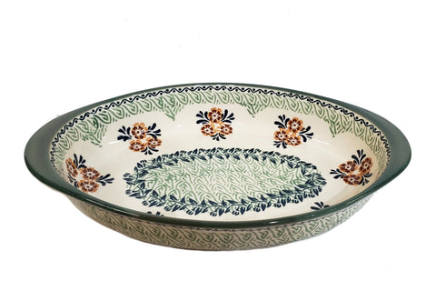 "30 cm / 11.75"" Oval Baking Dish in Marigold Fields pattern"
