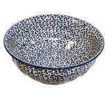 "11.5"" Salad Bowl in Bubbles pattern"