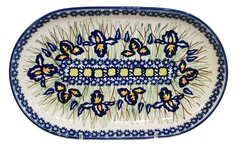 "9.25"" Oval Platter in Iris pattern"