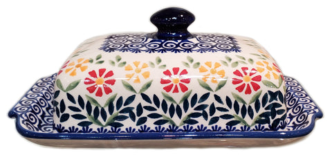 Traditional Butter dish in Spring Morning pattern
