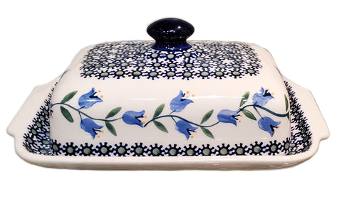 Traditional Butter dish in Trailing Lily pattern