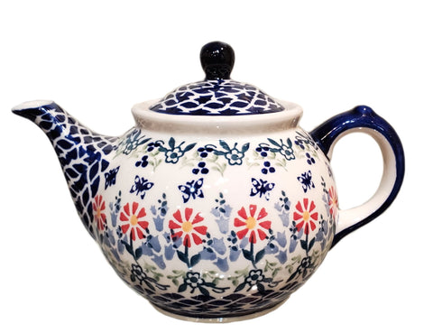 Morning teapot in Butterfly Garden pattern