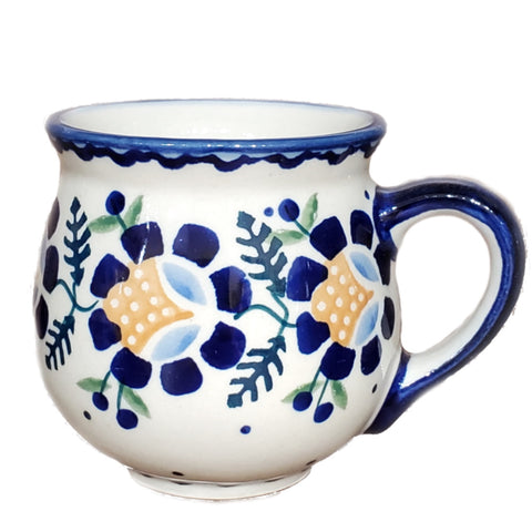 7 oz Bubble mug in Blue Daisy pattern