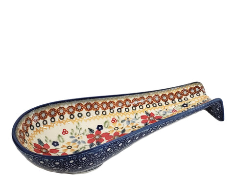 Long Spoon Rest in Signed Summer Garden pattern