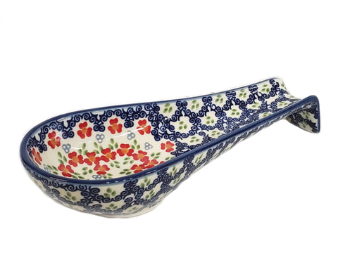 Long spoon rest in Unikat Poppy Meadow pattern