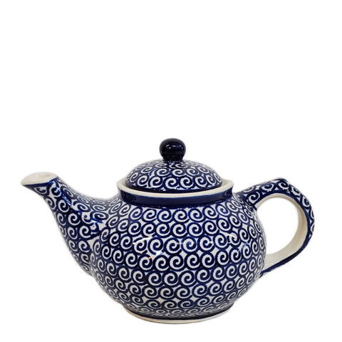 Mini Teapot in Blue Swirl pattern