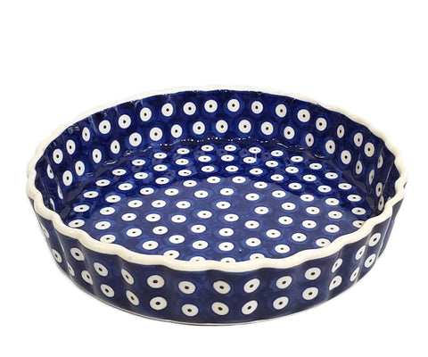 "9"" Tart / Quiche Baker in Polka Dot pattern."