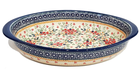 "30 cm / 11.75"" Oval Baking Dish in Summer Garden pattern"