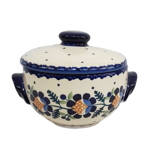 500ml Soup Bowl w/Lid in Blue Daisy pattern