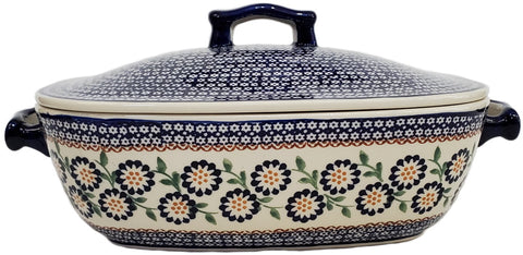 Covered casserole in Traditional pattern