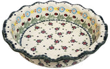 "9"" Fluted Pie Dish in Traditional pattern."