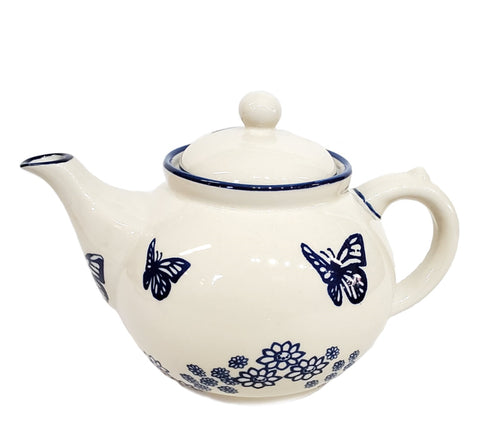 Afternoon teapot in Blue Butterfly pattern
