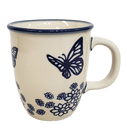 Bistro mug in Blue Butterfly pattern
