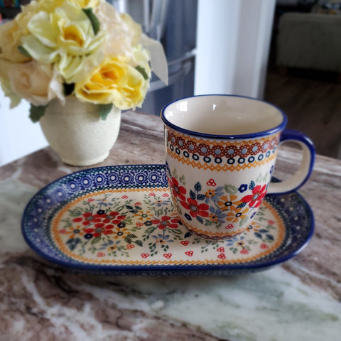 Breakfast Set in Summer Garden pattern