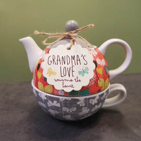 """Grandma's Love"" Tea for One Set"