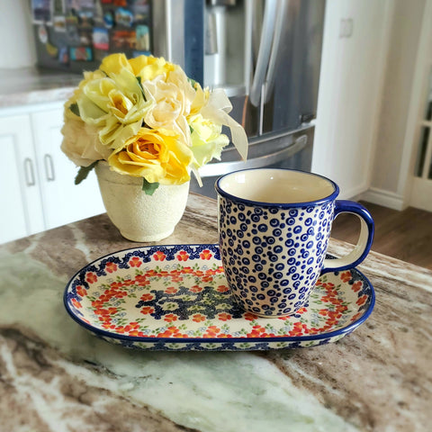 Breakfast Set in Poppy Meadow pattern