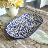 "9.25"" Oval Platter in Bubbles pattern"