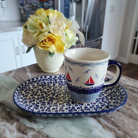 Breakfast Set in Red Sail pattern