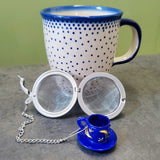 Blue Teacup Mesh Tea Ball