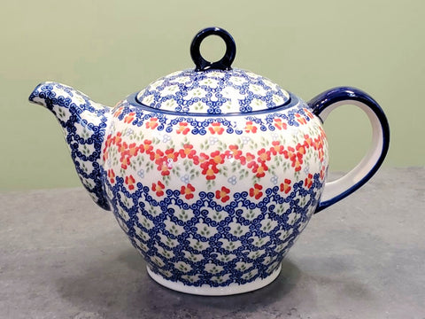 Teapot w/strainer 1.5L in Unikat Poppy Meadow pattern