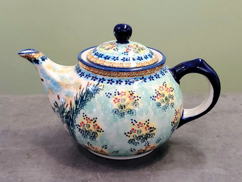 Morning teapot in Signed Stork Valley pattern