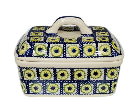 Butter box in Yellow Daisies pattern