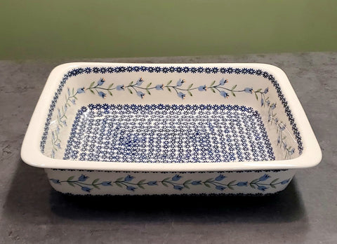 "31cm / 12.25"" Rectangular Baking Dish in Trailing Lily pattern"