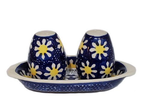 Salt and Pepper set in Yellow Daisies pattern