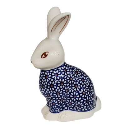 Bunny Rabbit figurine in Blue Pajamas pattern