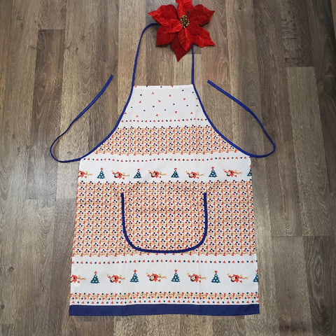 Kitchen apron in Holiday pattern