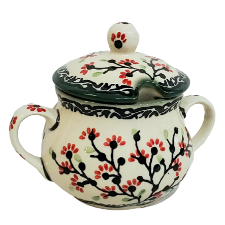 Sugar Bowl in Signed Cherry Blossom pattern