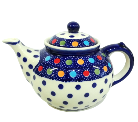 Afternoon teapot in Fun Dots pattern