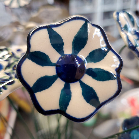 Ceramic flower on stem