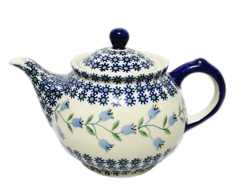 Morning teapot in Trailing Lily pattern