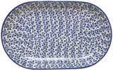 32 cm  Oval Platter in Bubbles pattern