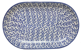 "12.75"" Oval Platter in Bubbles pattern"